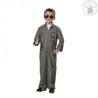 Kostýmy - Bojový pilot - dětský karnevalový kostým