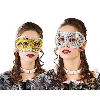 Masky, škrabošky - Maska flitrová D