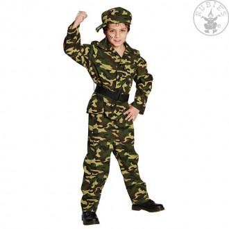 Kostýmy - Voják - kostým s čepicí