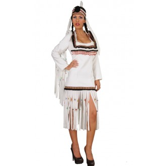 Kostýmy na karneval - WHITE INDIAN - dámský kostým