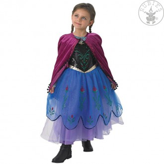 Kostýmy - Anna  Frozen Premium Dress - Child
