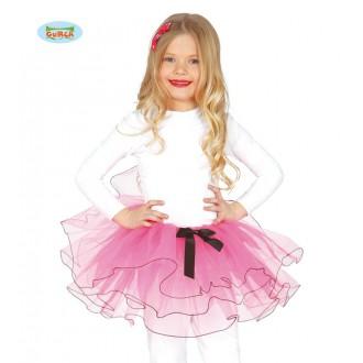 Kostýmy - Dětská sukénka 25 cm růžová