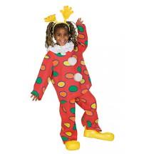 Klaun dvoudílný - karnevalový kostým