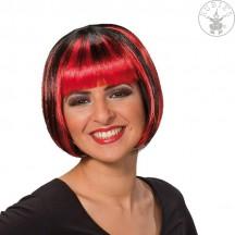 Trixy červeno-černá - karnevalová paruka