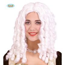 Paruka dámská  bílá - lokny