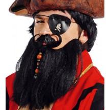 Velké pirátské vousy s knírem černé