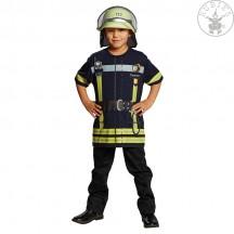 Tričko hasič  tm. modré
