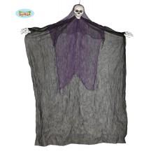 Závěsné strašidlo černé - skeleton