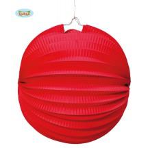 Lampion 26 cm červený