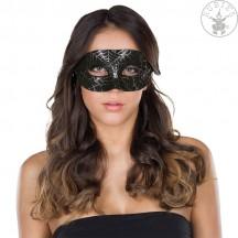 Domino maska s pavoučí sítí