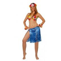 Havajská sukně modrá 75 cm dlouhá D