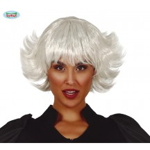 Bílá dámská paruka Nina