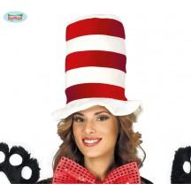 Červeno-bílý klobouk dámský