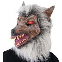 Maska  latexová - šedý vlk
