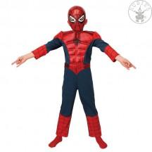 Ultimate Spiderman Deluxe Metalic dětský kostým