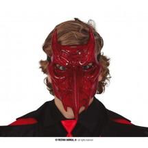 Ďábelská maska s rohy